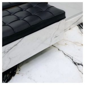 Black leather amp marble from shoparchitects