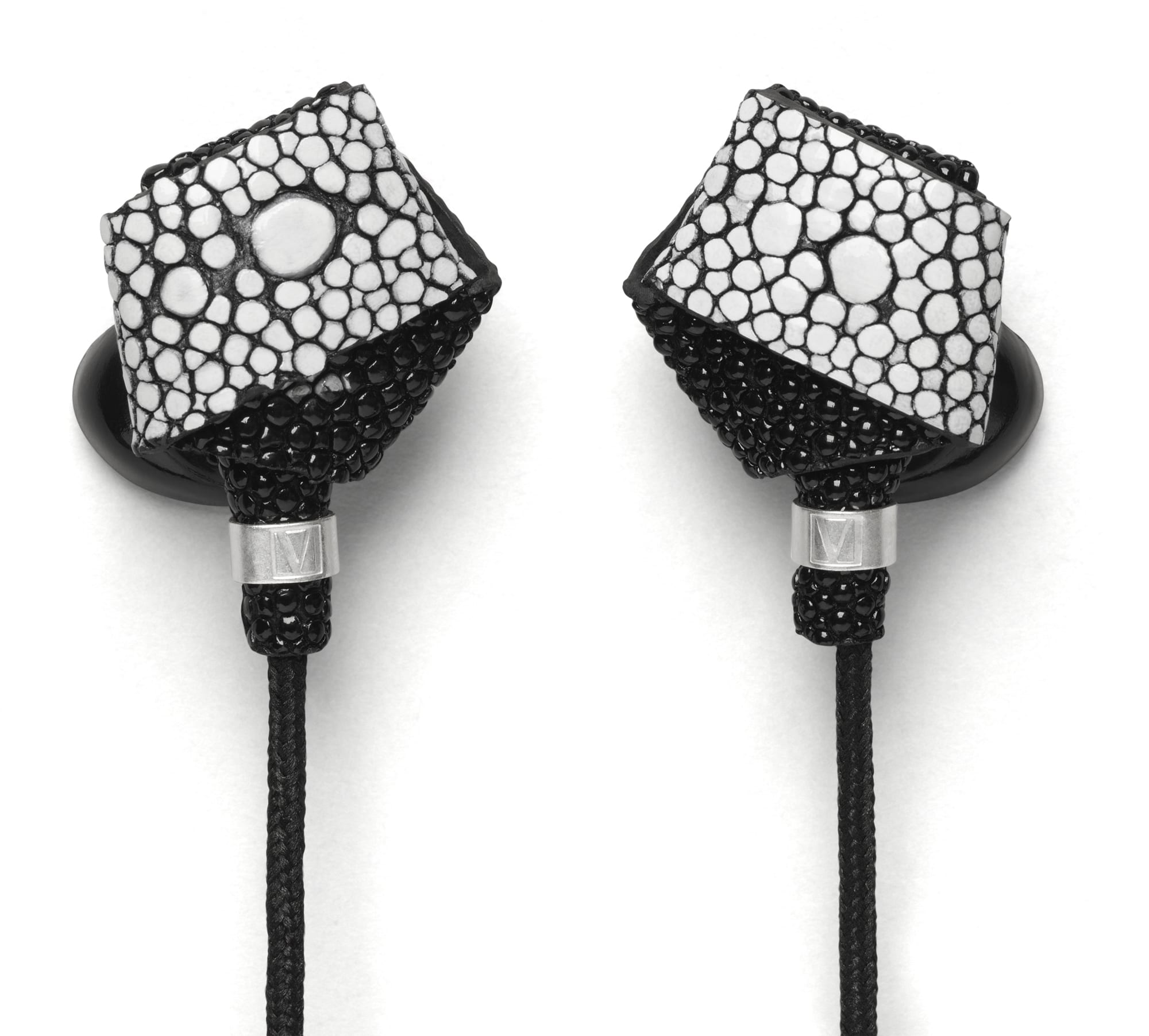 Molami - Bight Stingray White & Silver Earphones