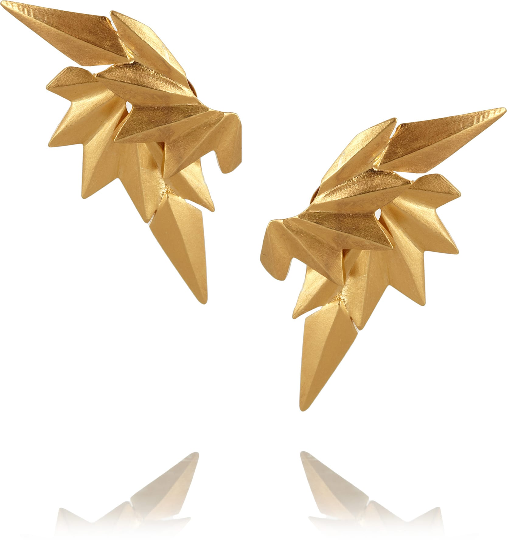 Maria Black - Gold-Plated Wing Earrings