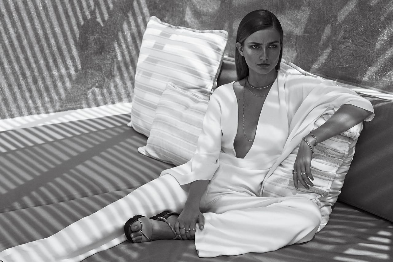 Style&Minimalism WSJ February 2014 | Ralph Lauren Collection ivory jumpsuit