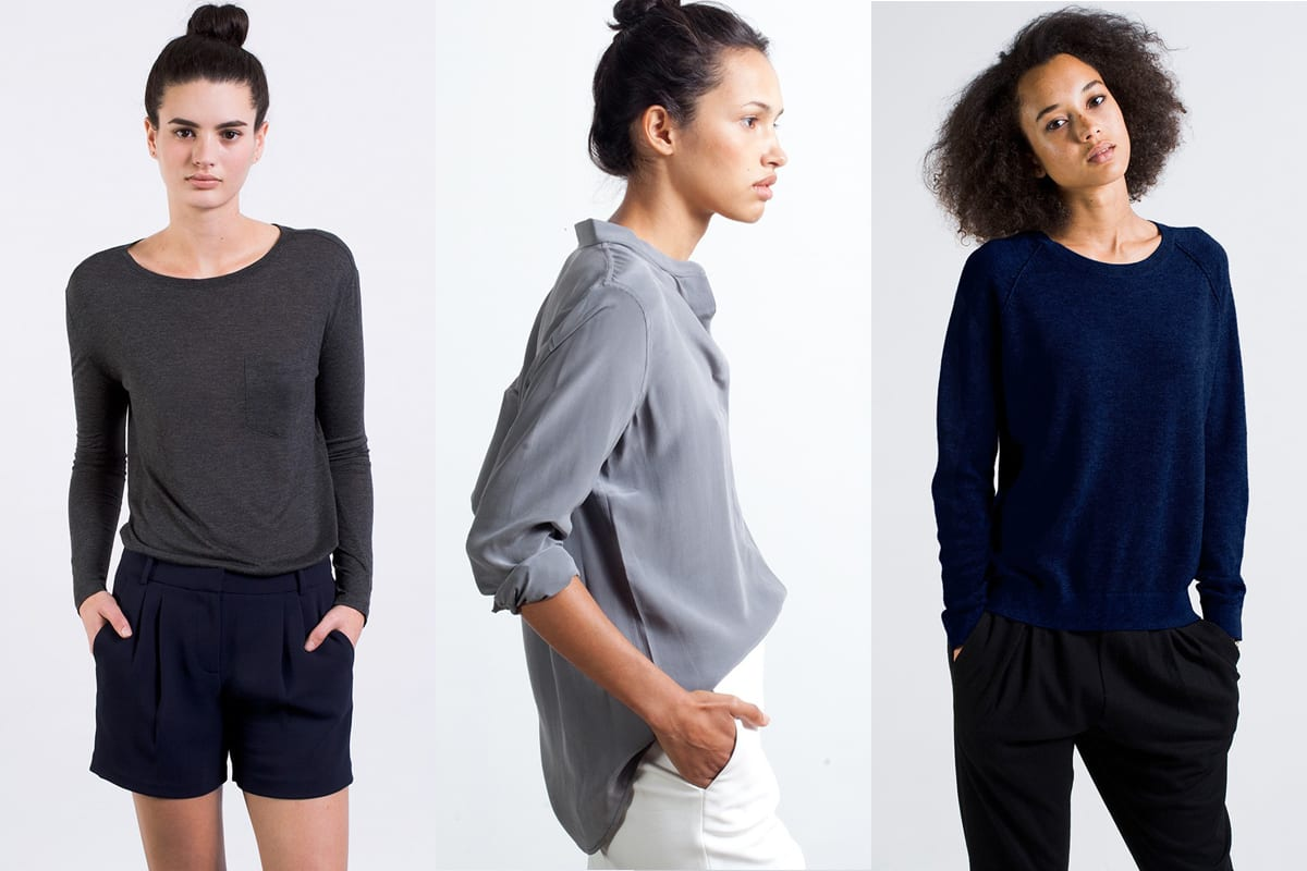 Everlane | Products: long-sleeve t-shirt, silk shirt & raglan sweater