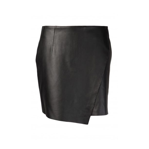 Helmut Lang - Black Leather Mini Skirt