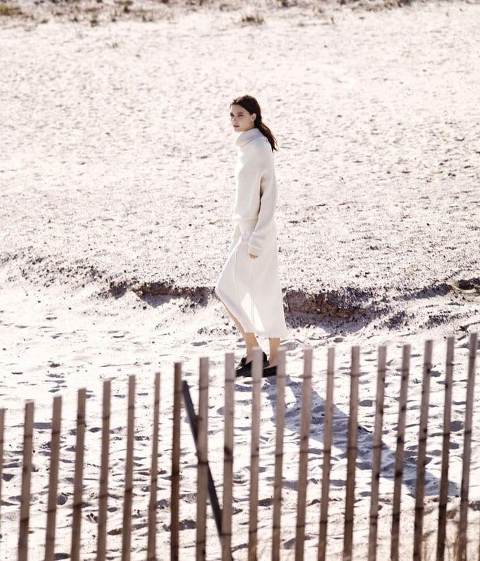 StyleAndMinimalism| WSJ Magazine | Acne Studios top, Altuzarra skirt and Proenza Schouler flats