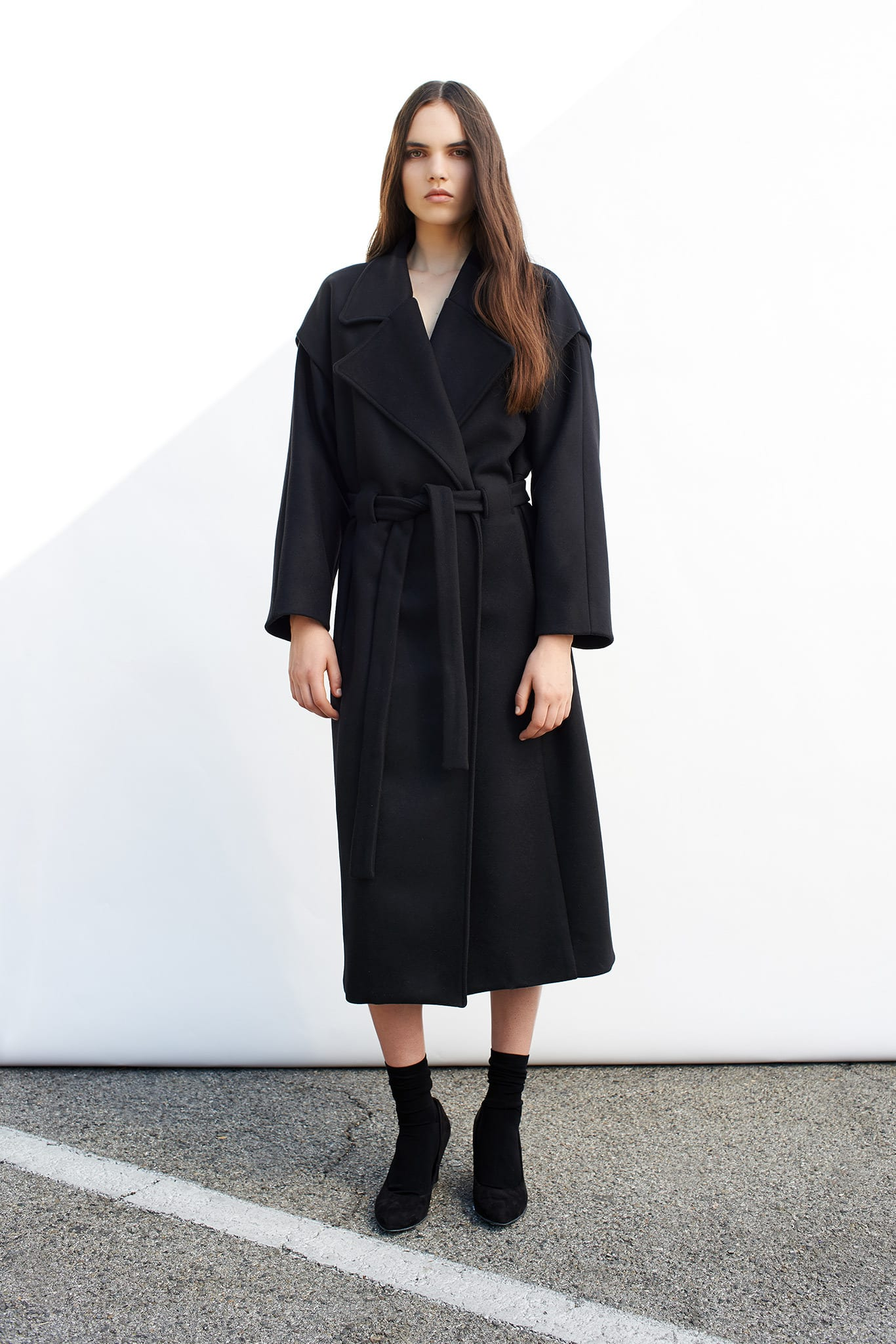 StyleAndMinimalism | Collection Best Bits | Cerre AW14 | Long Black Wool Overcoat
