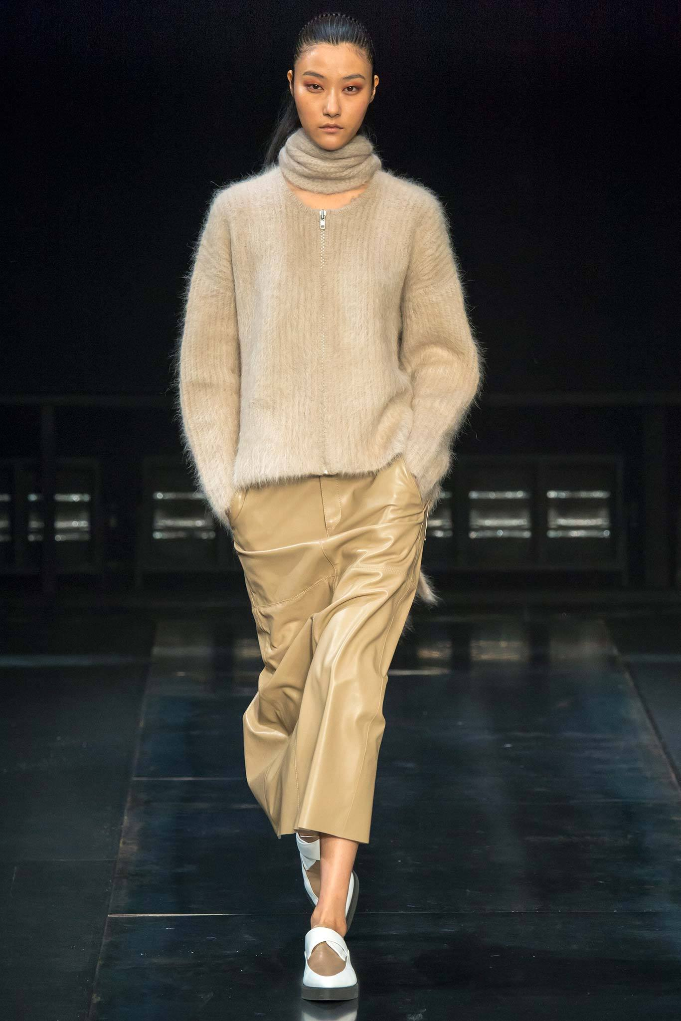 StyleAndMinimalism | Collection Best Bits | What To Wear From AW14 | Helmut Lang AW14 | Beige Mohair Cardigan, Beige Caramel Leather Midi Pencil Skirt