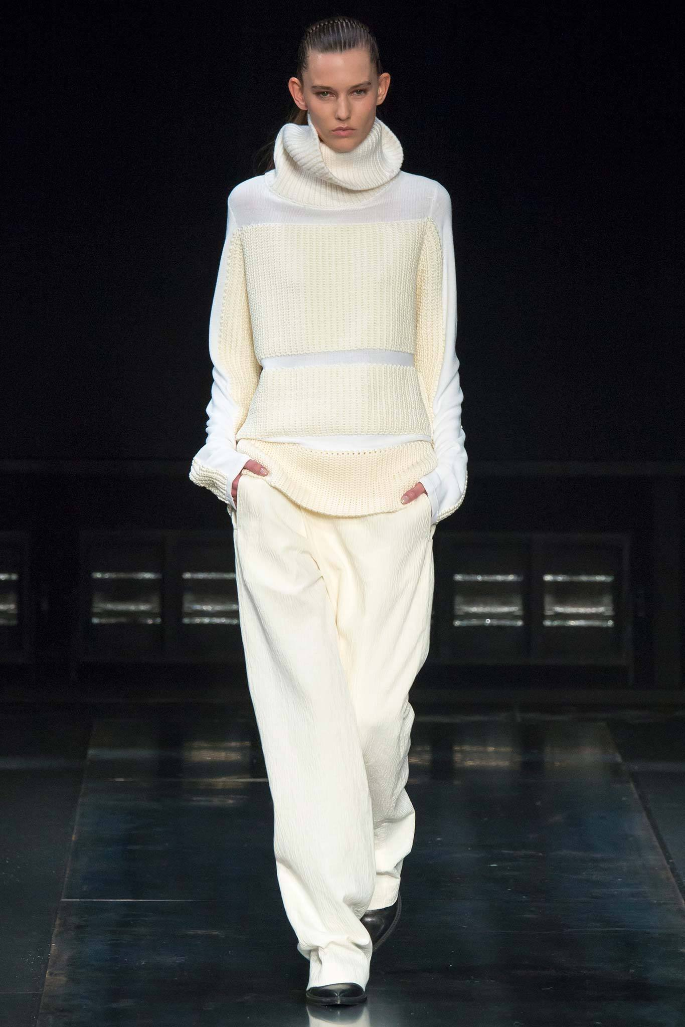 StyleAndMinimalism | Collection Best Bits | What To Wear From AW14 | Helmut Lang AW14 | Oversized Cream Roll Neck Jumper, Wide Loose-Fit Trousers