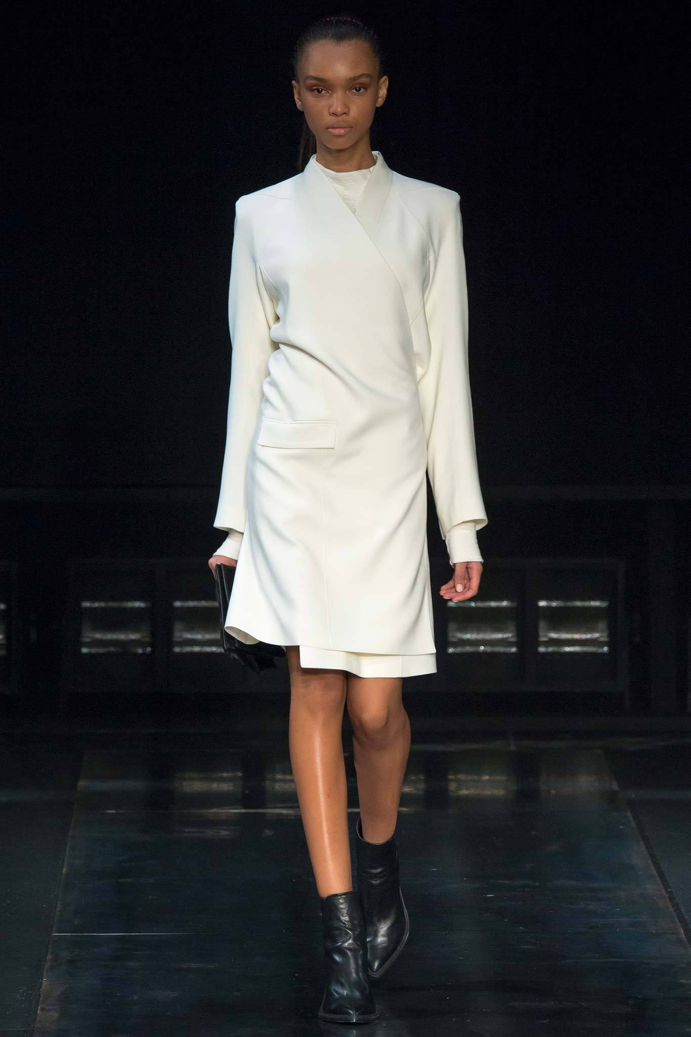 StyleAndMinimalism | Collection Best Bits | What To Wear From AW14 | Helmut Lang AW14 | Cream Wrap Coat Dress