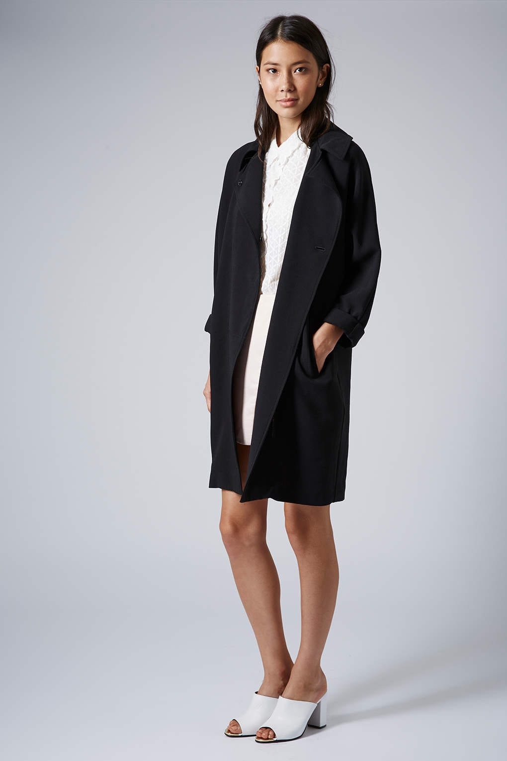 StyleANDMinimalism | L'Amour | Topshop | Black Crimped Duster Coat