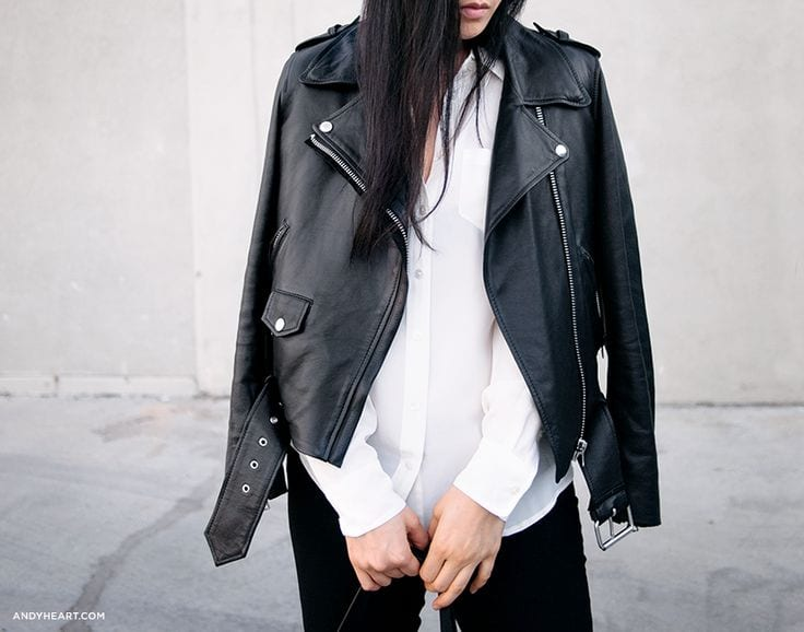 StyleANDMinimalism | The Perfect... | Black Leather Biker Jacket | Andy Heart