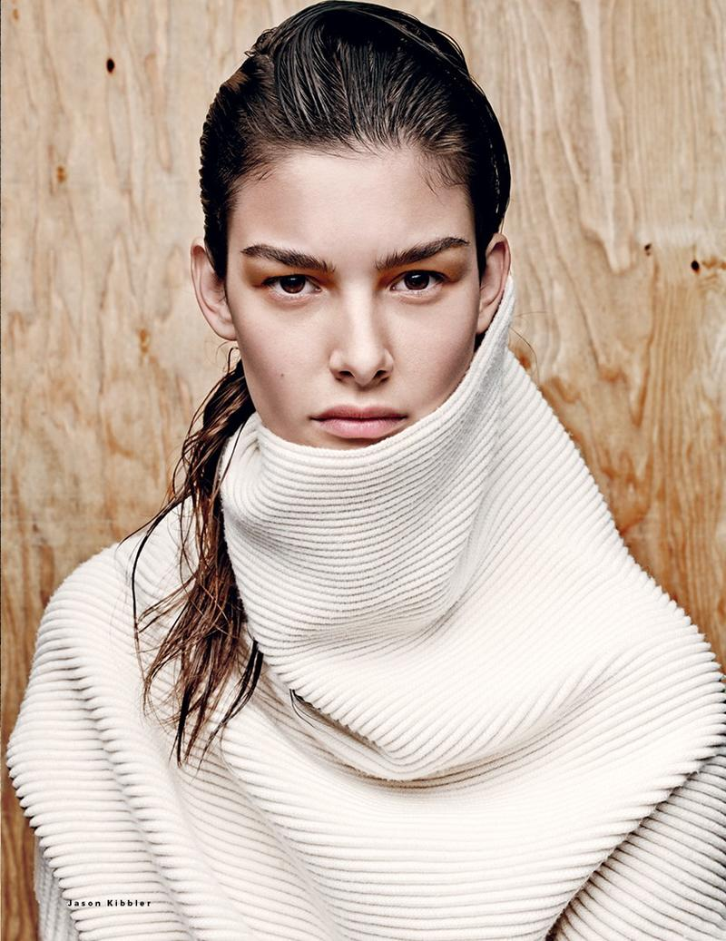 StyleANDMinimalism | Editorials | September 2014 | Vogue Russia | Knitted | Ophelie Guillermand