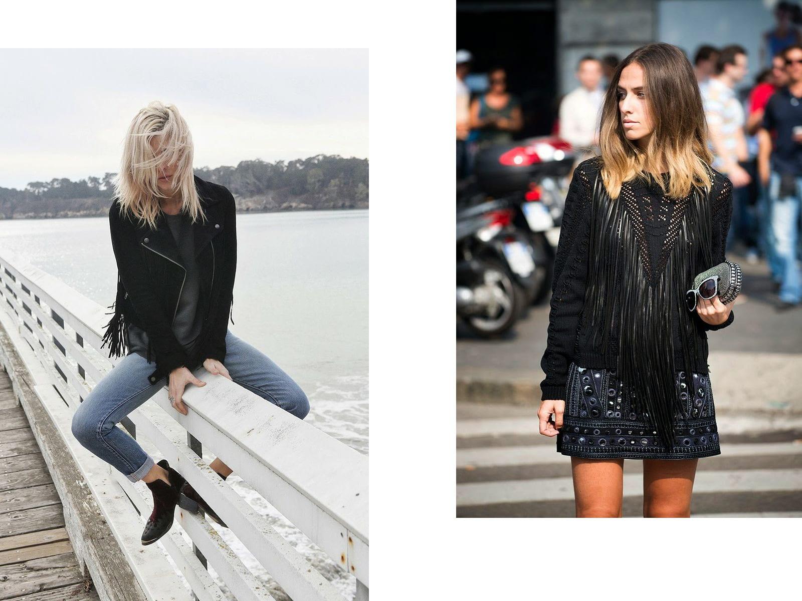 StyleANDMinimalism   Styling Inspiration   Leather Fringe Trend