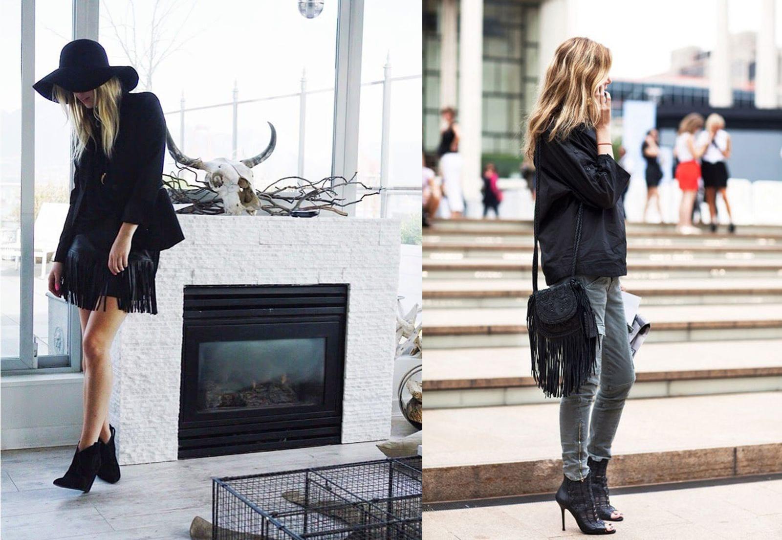 StyleANDMinimalism   Styling Inspiration   Leather Fringe Trend   Kate Horsman