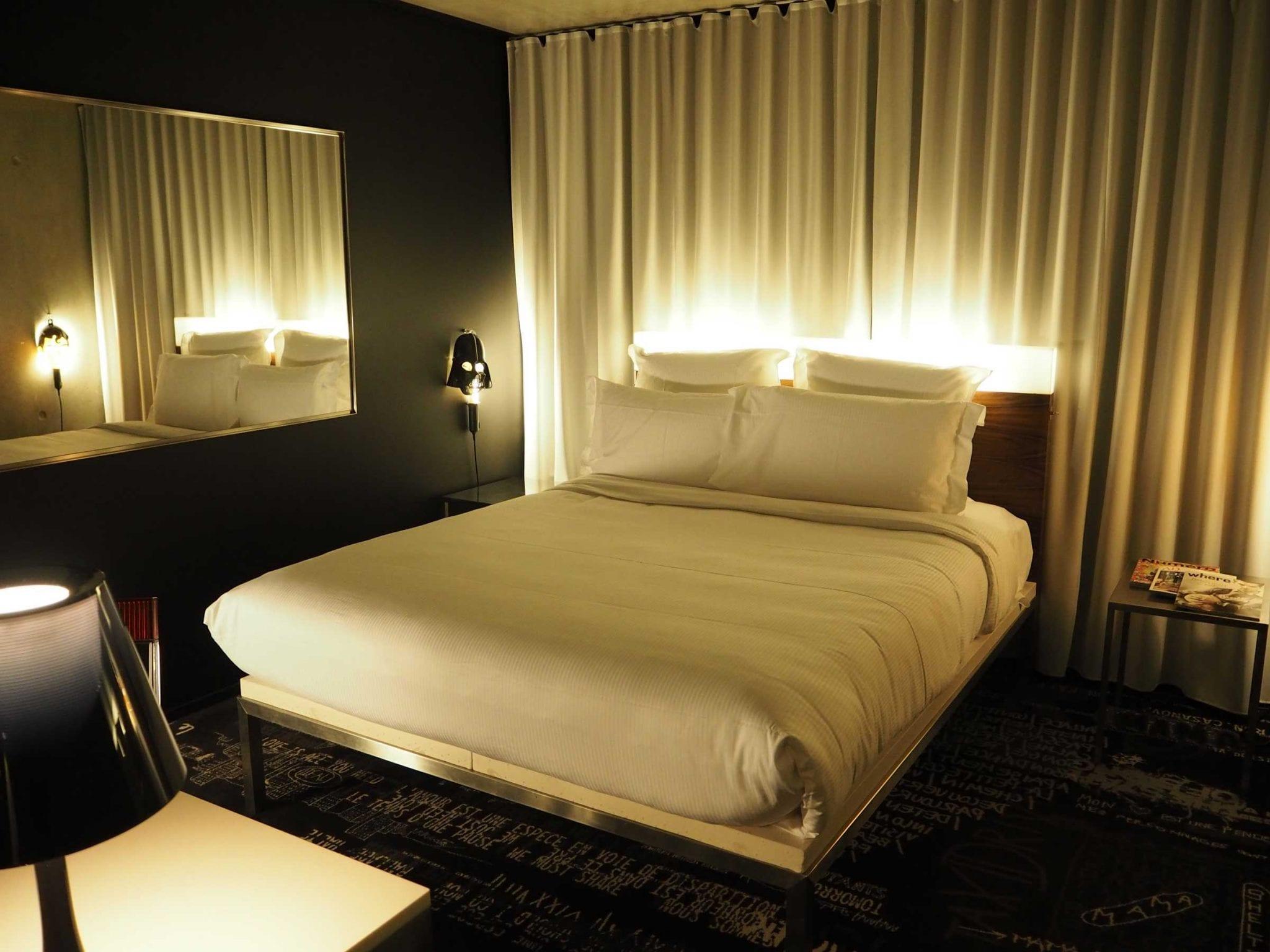 Bedroom at Mama Shelter, Paris
