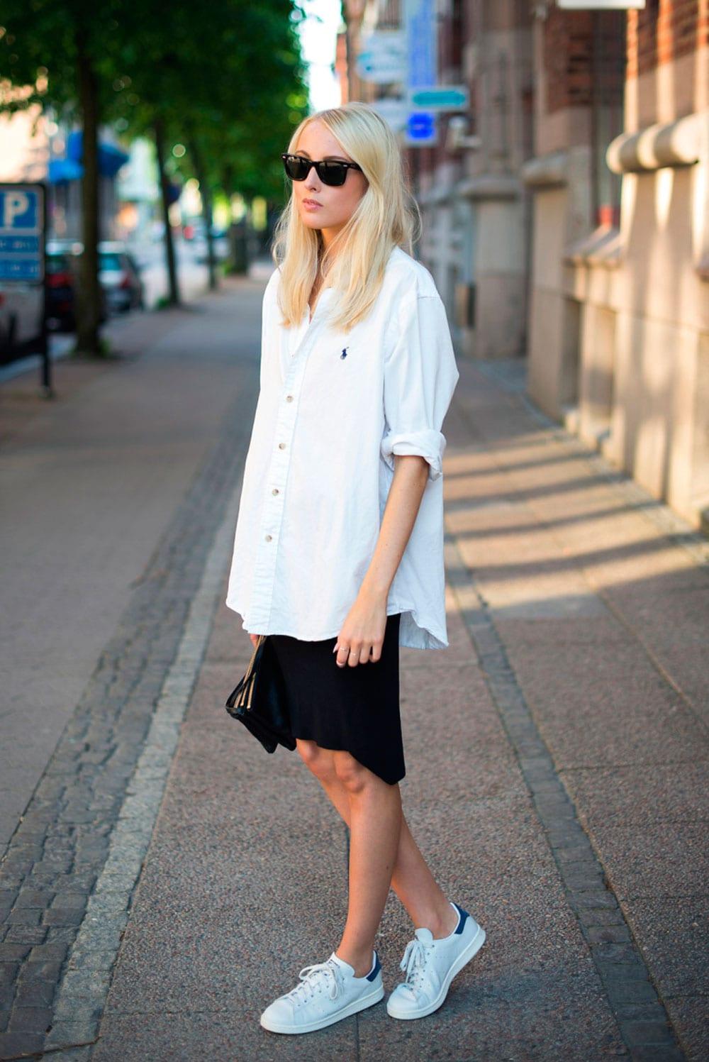 StyleAndMinimalism| L'Amour | White Boyfriend Shirt | Ellen Claesson