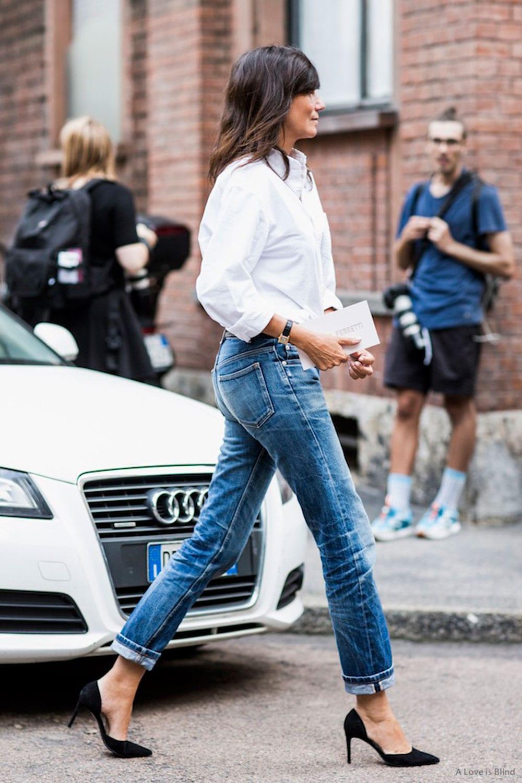 StyleANDMinimalism| L'Amour | White Boyfriend Shirt | Emmanuelle Alt