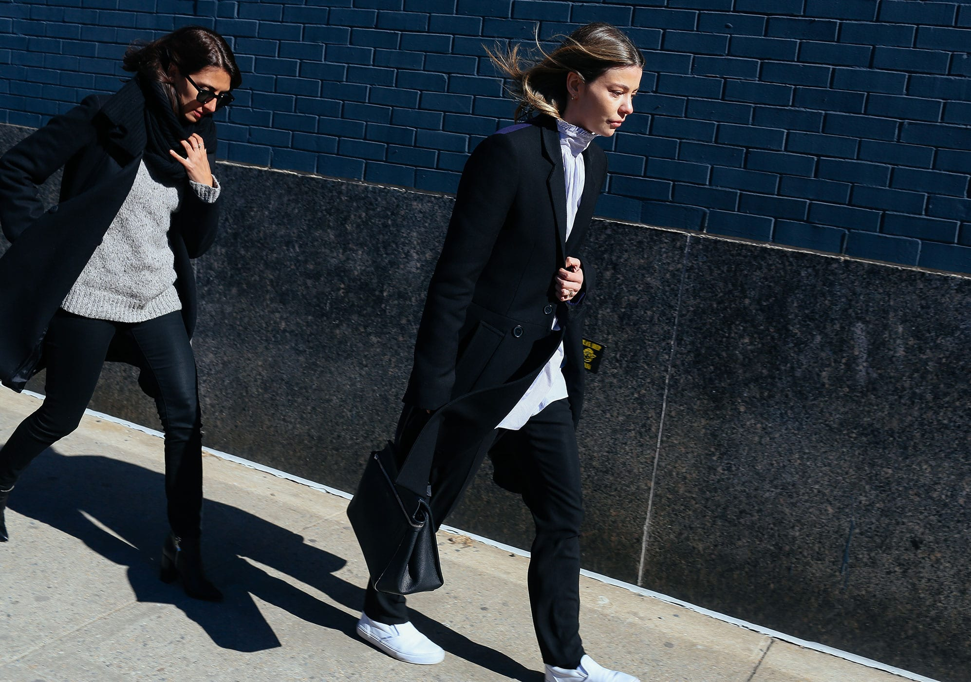 StyleAndMinimalism   Street Style   Fall 2015   NYFW   Annina Mislin (right) in Vans shoes by Phil Oh
