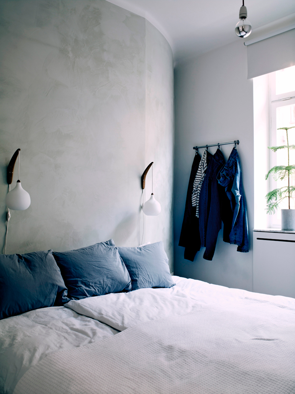 StyleAndMinimalism | Interiors | Small Smart Apartment In Sweden | Bedroom Ideas