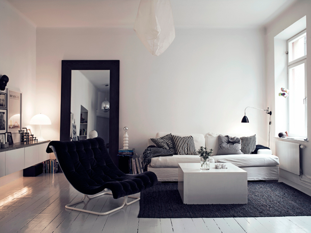 StyleAndMinimalism | Interiors | Small Smart Apartment In Sweden | Living Room Ideas