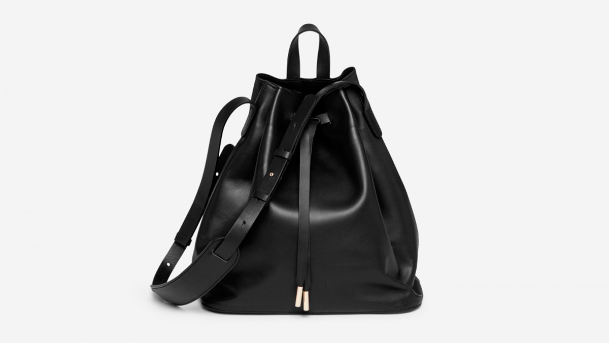 StyleAndMinimalism | Fashion | L'Amour | PB 0110 AB16 Bucket Bag in black leather