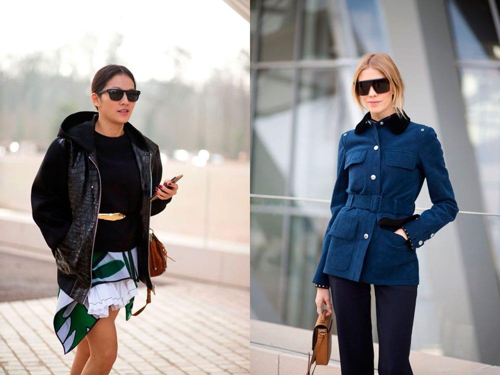 StyleAndMinimalism | Street Style | Paris Fashion Week | Tina Leung & Elena Perminova in Louis Vuitton Photographed by Diego Zuko