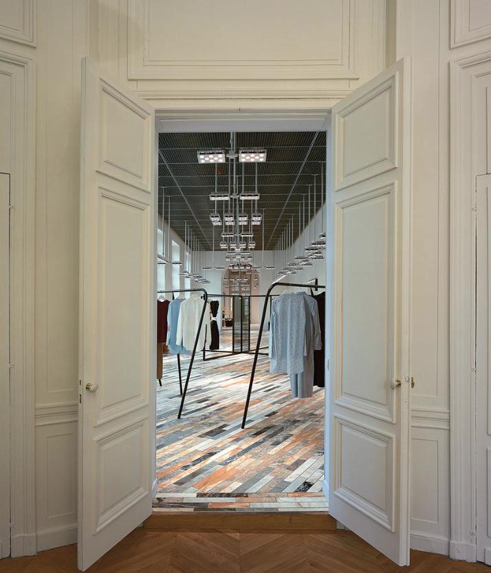 StyleAndMinimalism | Interiors | Céline showroom marble floor