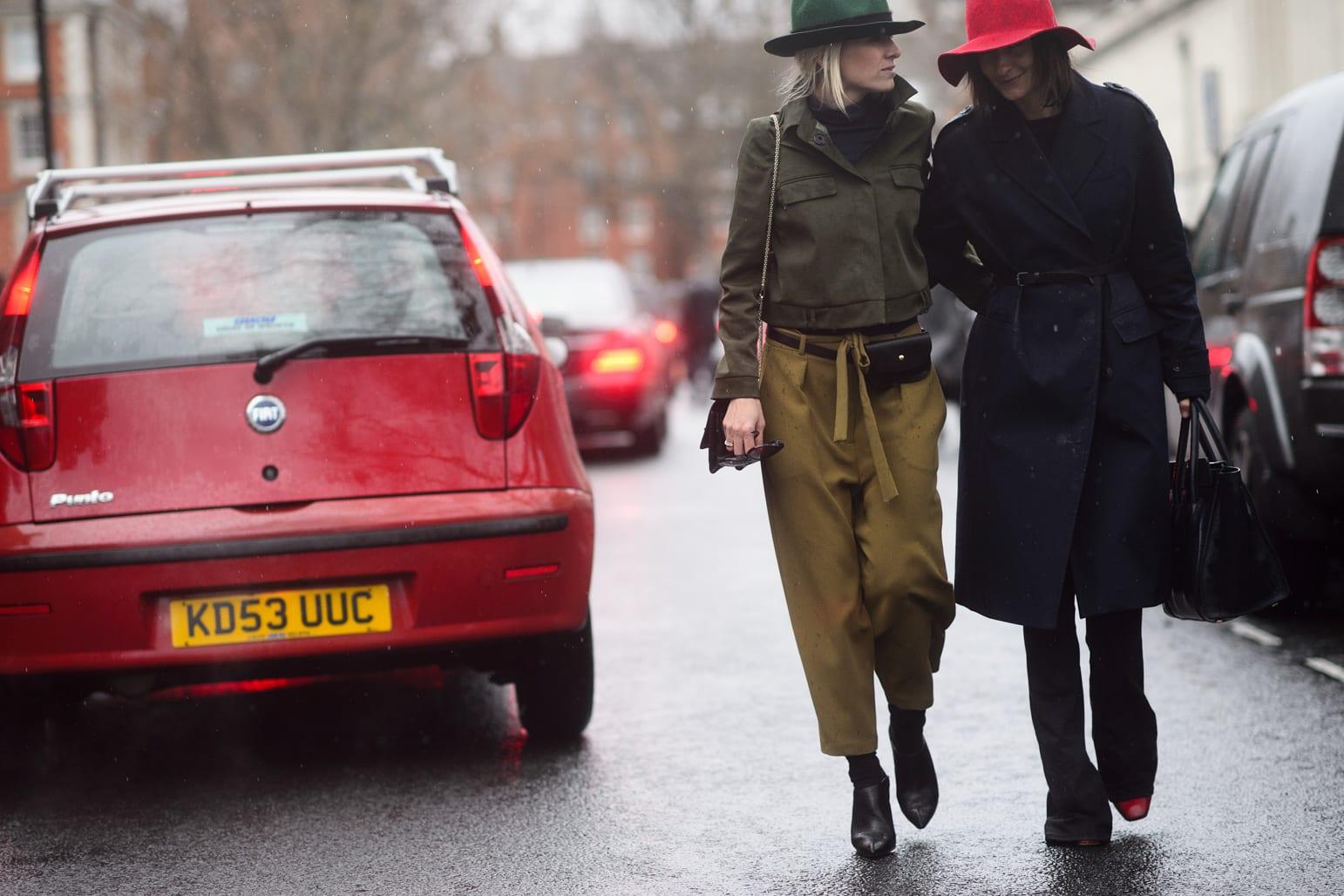 StyleAndMinimalism | Street Style | LFW | Fall '15 | Celine Aagaard & Golestaneh Mayer-Uellner by Adam Katz Sinding