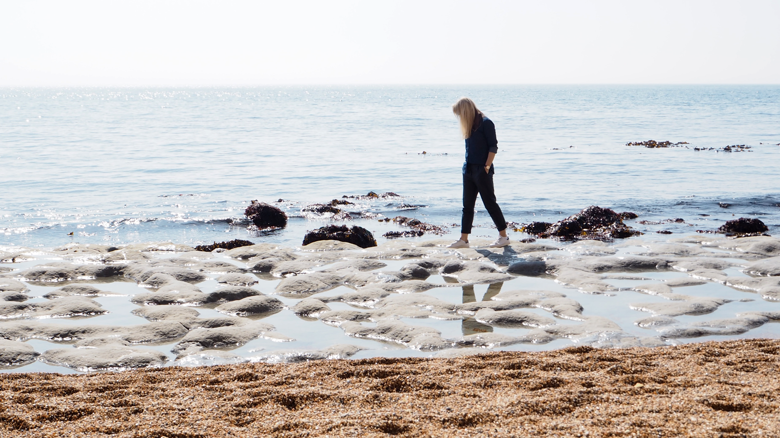 StyleAndMinimalism | Personal Style | A Day At The Beach | Wearing Denim Shirt, Leather Trousers + Stan Smith trainers