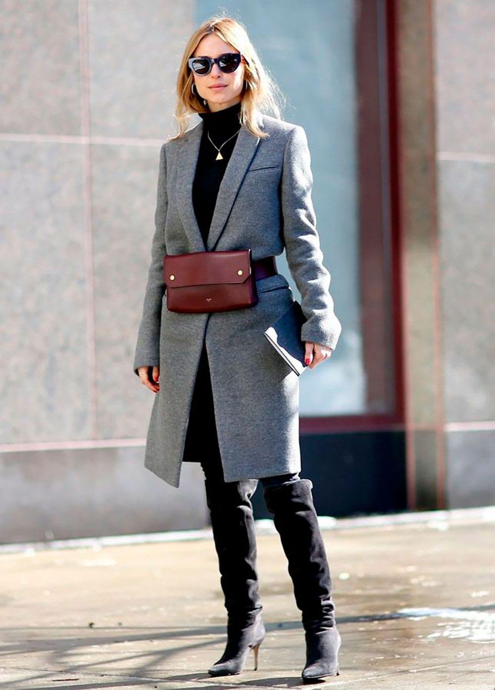 StyleAndMinimalism | Street Style | Céline | Bum Bag | Vogue Russia