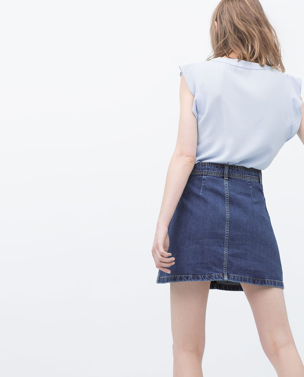 StyleAndMinimalism | L'Amour | Zara 70s Denim Skirt with Pockets