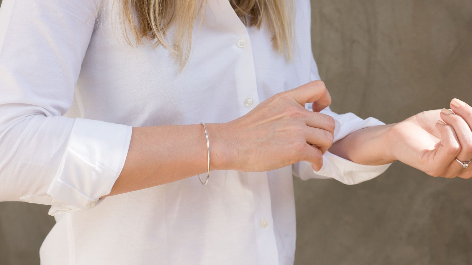 StyleAndMinimalism | New Additions | Renné Halo Silver Bangle