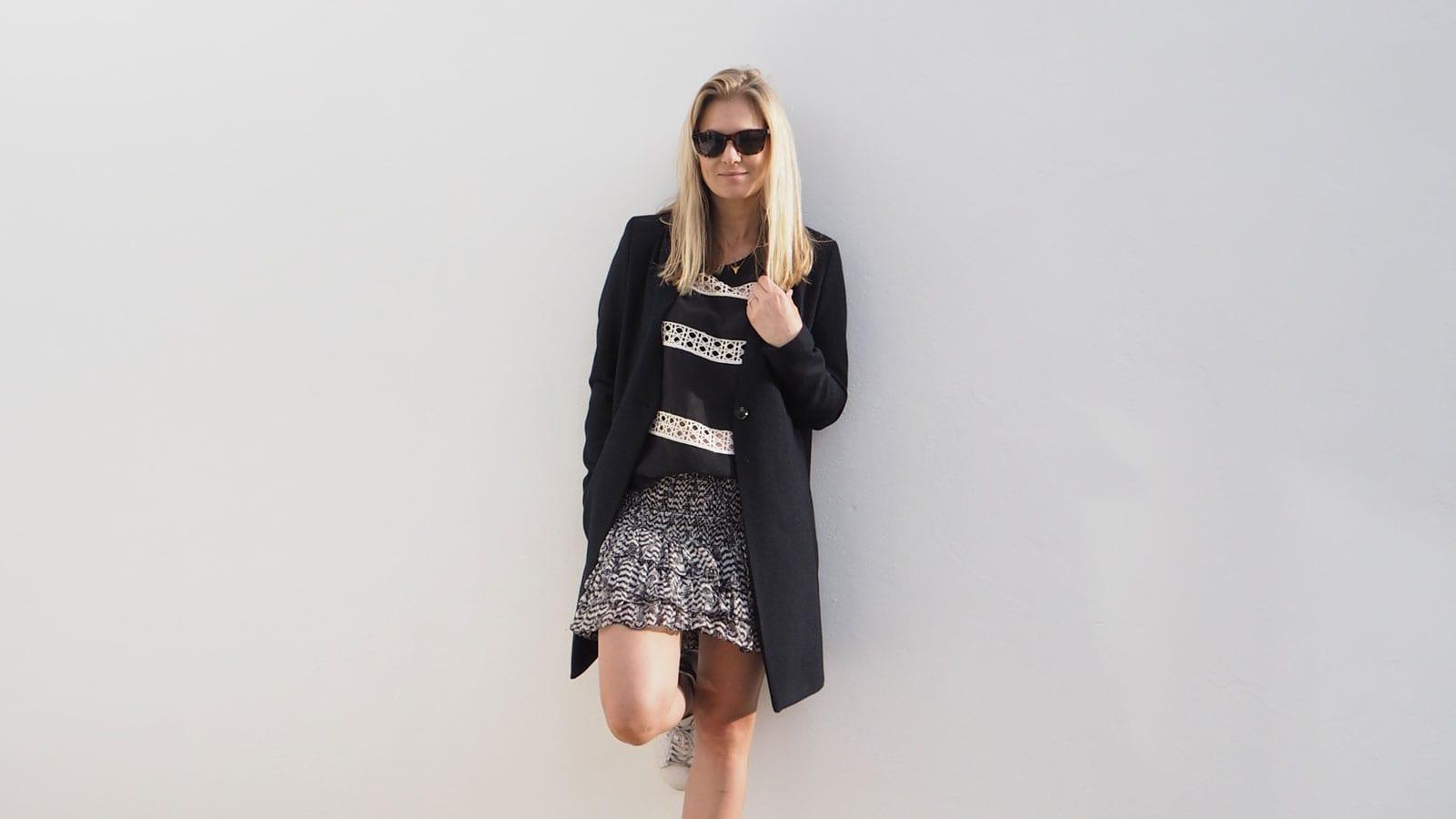 StyleAndMinimalism | It's Personal | Samsøe & Samsøe Kahlia Coat, Second Female Lovina Top