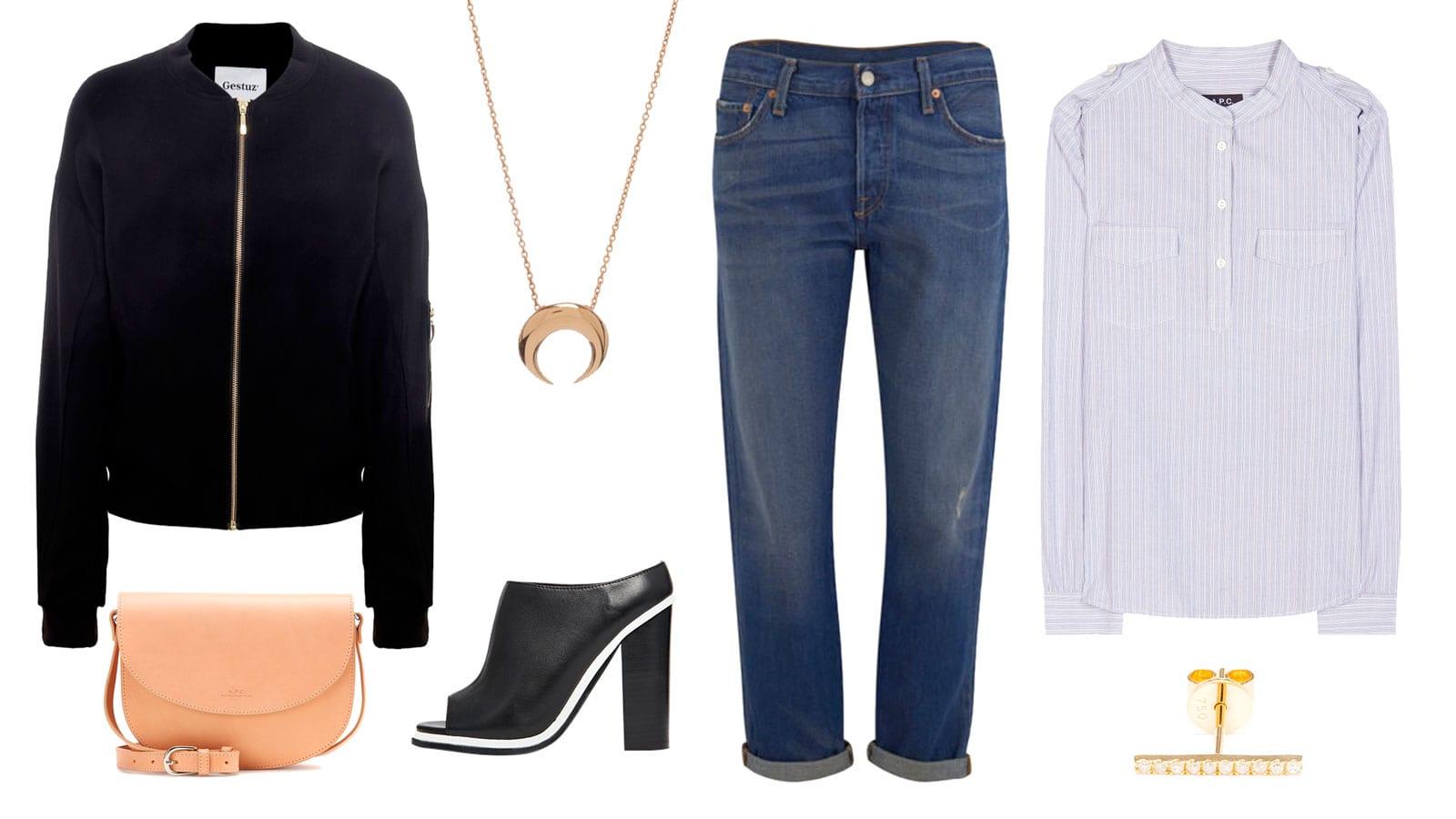 StyleAndMinimalism | Shopping List | Bomber Jeans Heels