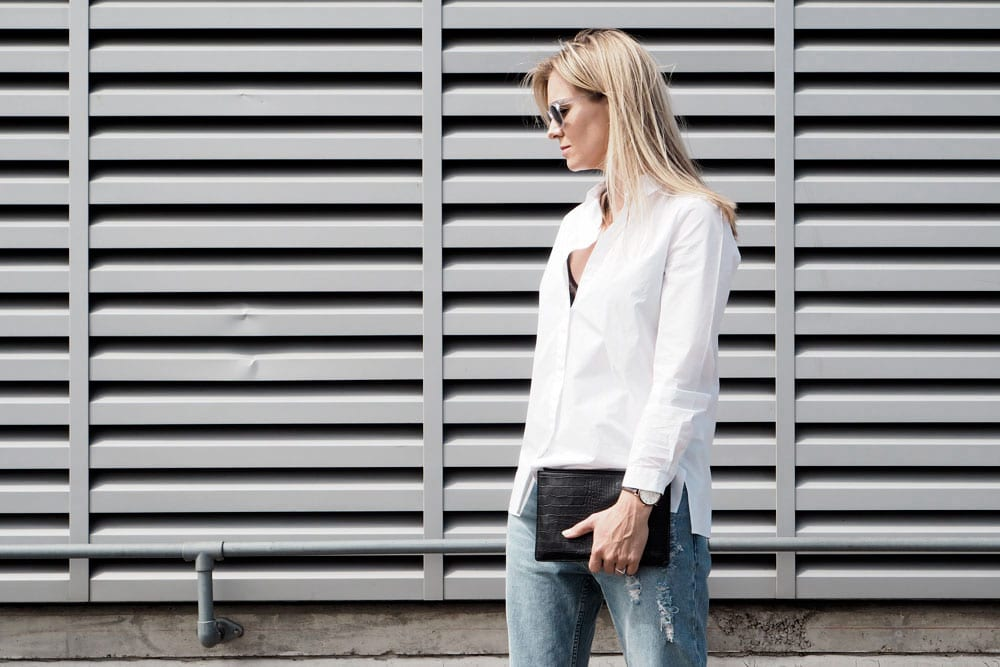StyleAndMinimalism | It's Personal | Sunglasses: Ace & Tate, White Shirt: COS, Jeans: Cheap Monday, Heels: Topshop