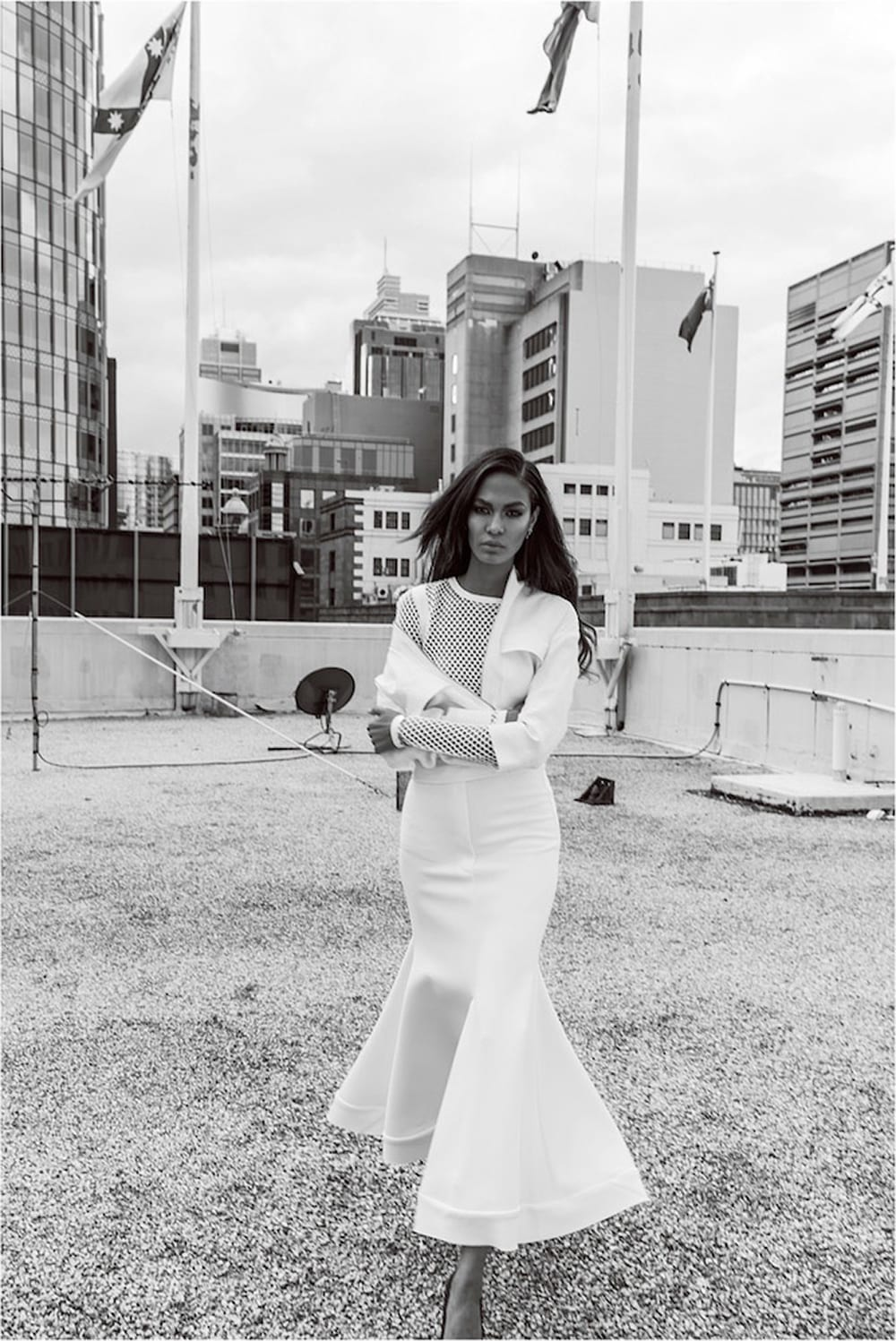 StyleAndMinimalism | Editorials | Joan Smalls Photographed By Margaret Zhang for Davis Jones' Studio W