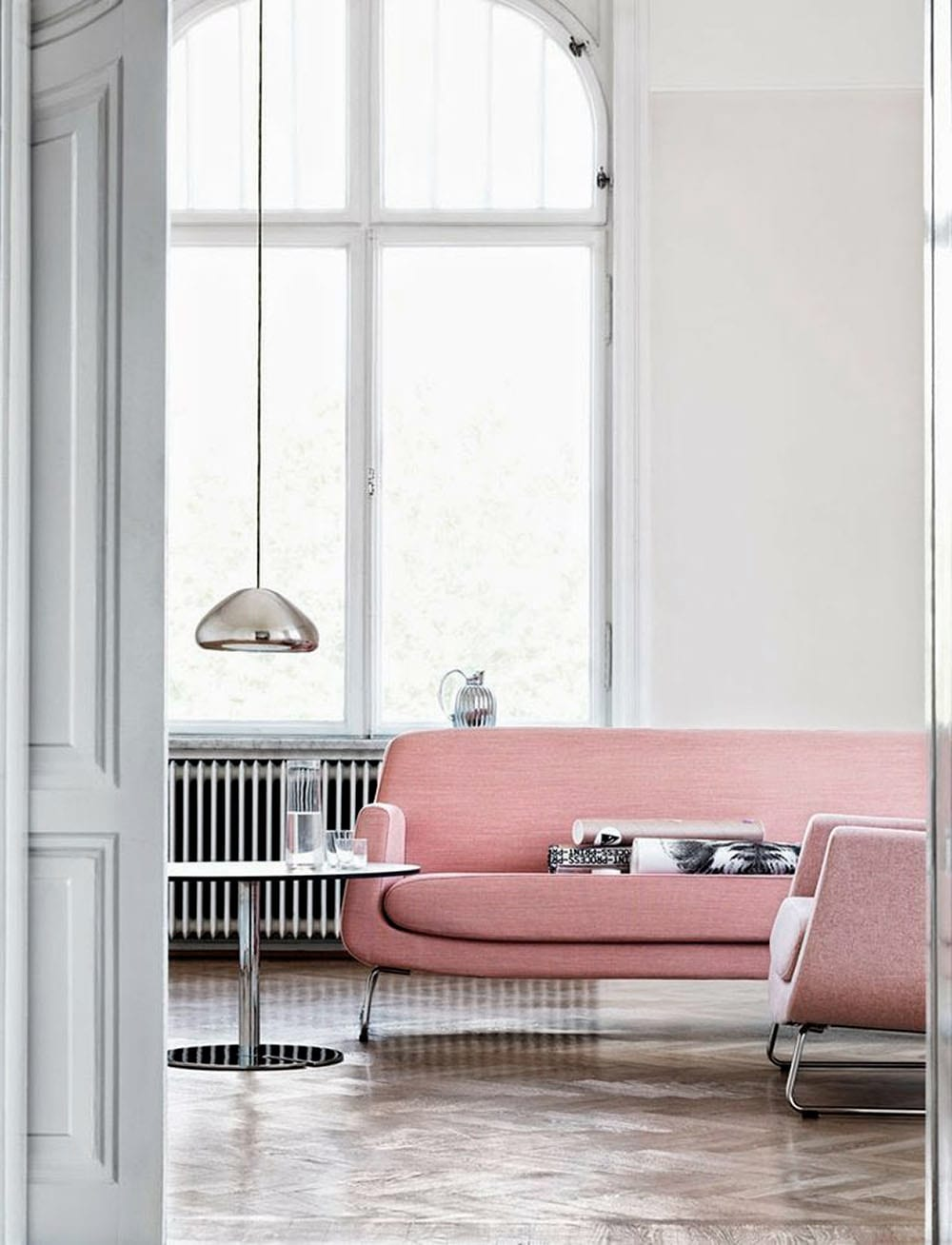 StyleAndMinimalism | Interior Inspiration | Blush Pink + Charcoal Grey