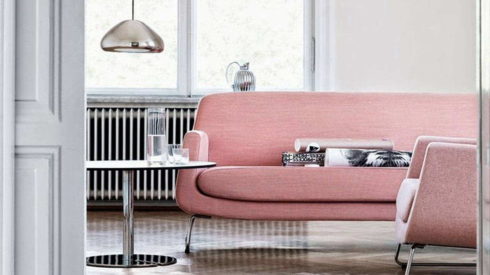 StyleAndMinimalism | Interior Inspiration | Dusty Pink + Charcoal Grey