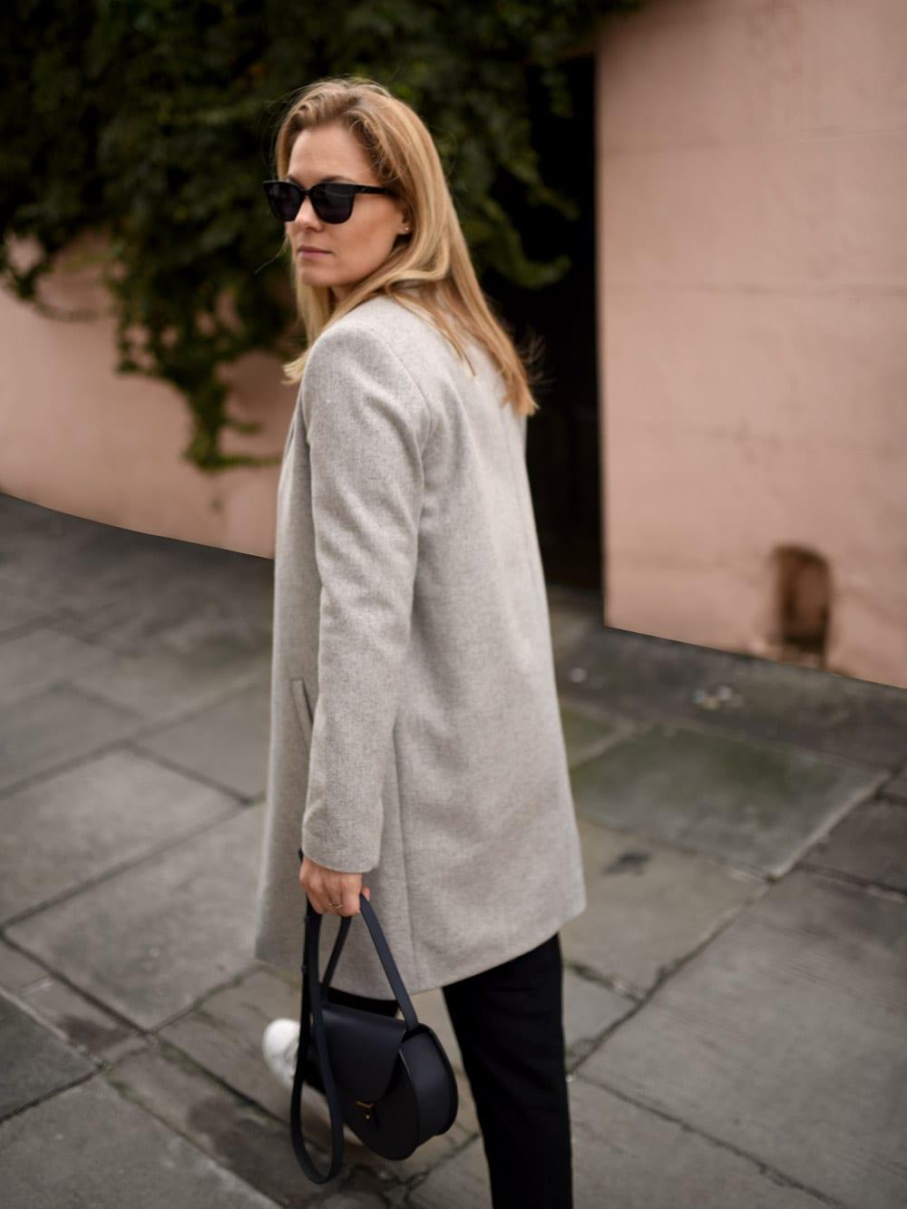 Style&Minimalism | It's Personal | Pink Walls & Grey Coats | Wearing Samsøe & Samsøe, PB0110, Alexander Wang, Lemaire x UNIQLO