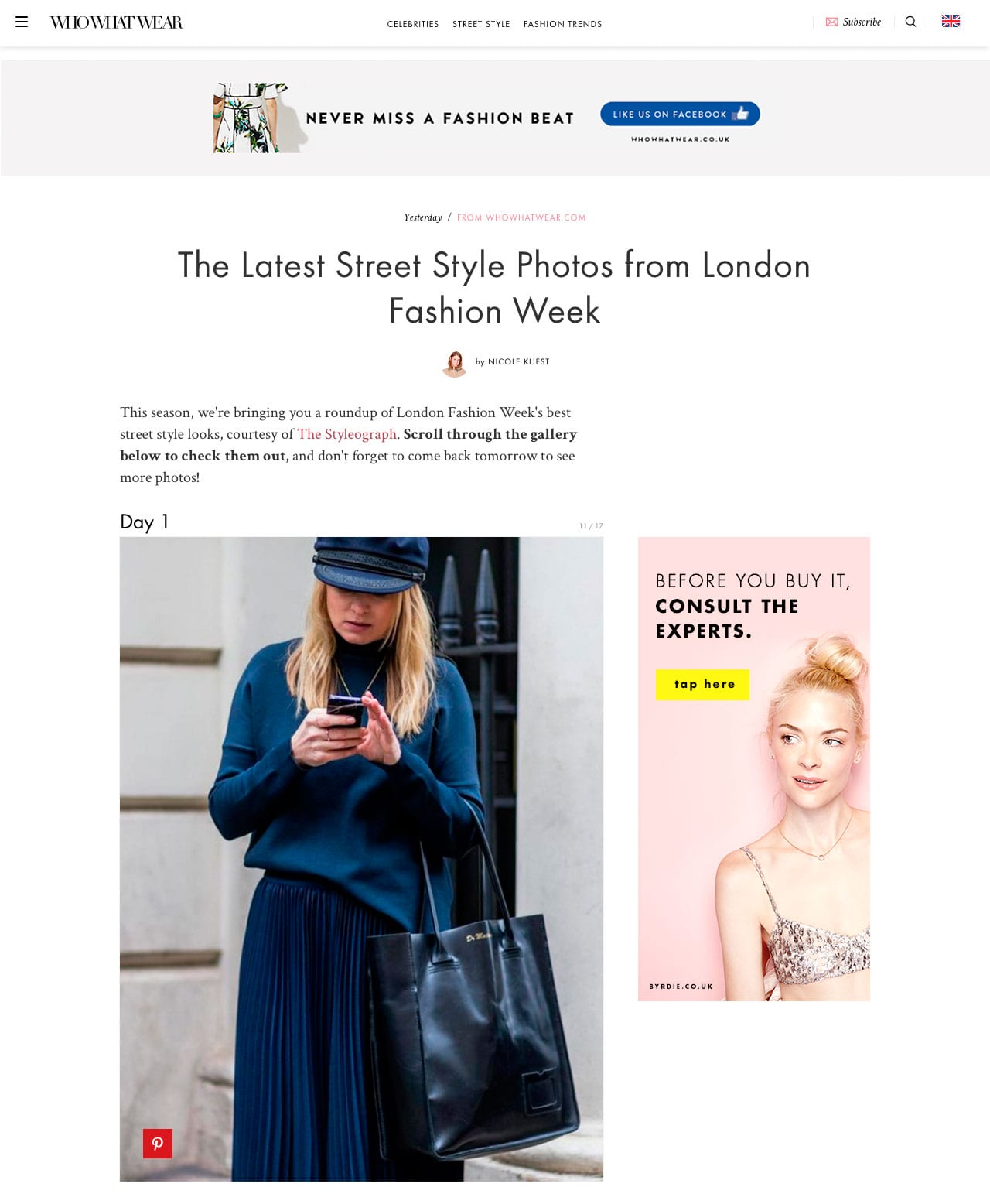 Style&Minimalism | Press | February 2016 | Who What Wear | The Latest Street Style Photos from London Fashion Week AW16