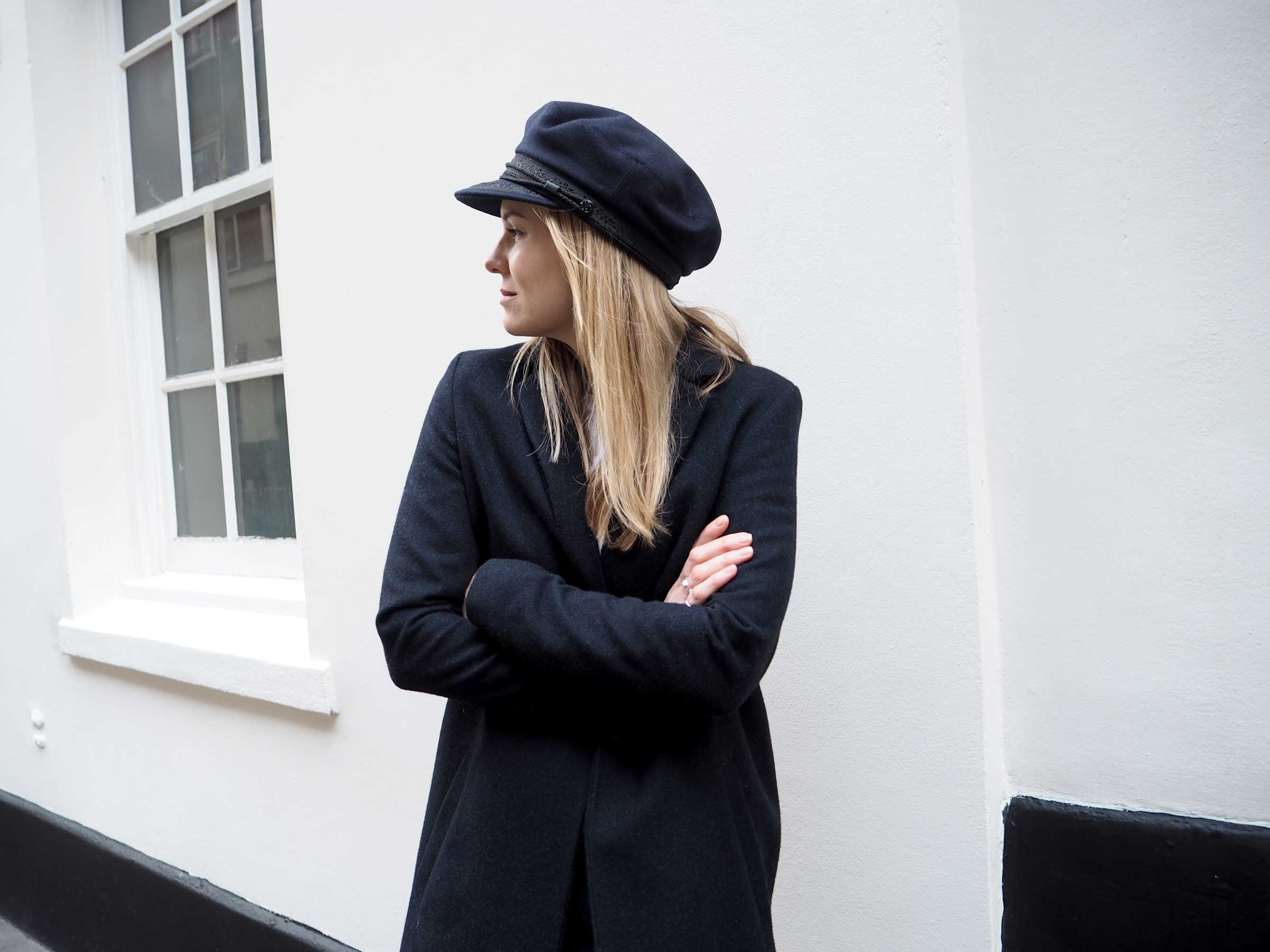 Style&Minimalism | It's Personal | Wearing Samsøe Coat, Isabel Marant Étoile Jeans, Jimmy Choo Rebel Bag, Saint James Mariners Cap