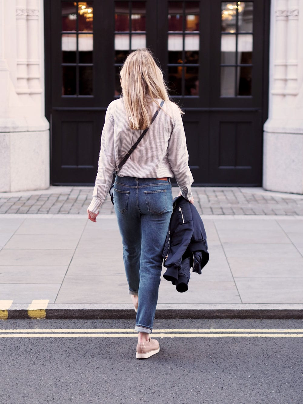 Style&Minimalism | It's Personal | Stripe Shirts & Denim | Samsøe Jeans, Topshop Bomber, Second Female Shirt, Triwa Sunglasses, PB 0110 Bag