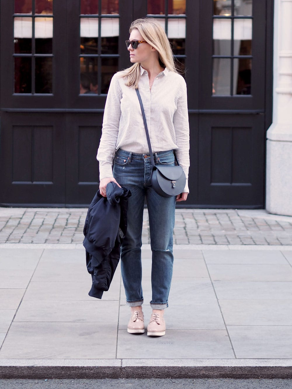 Style&Minimalism | It's Personal | Samsøe Jeans, Topshop Bomber, Second Female Shirt, Triwa Sunglasses, PB 0110 Bag