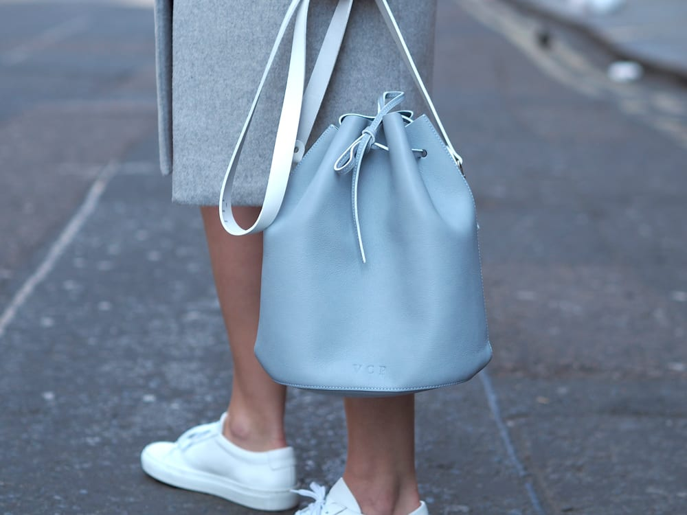 Style&Minimalism   It's Personal   Soft Waves by The Bardou   Wearing Splendid T-Shirt Dress, Second Female Coat, Common Projects & Baia Bucket Bag