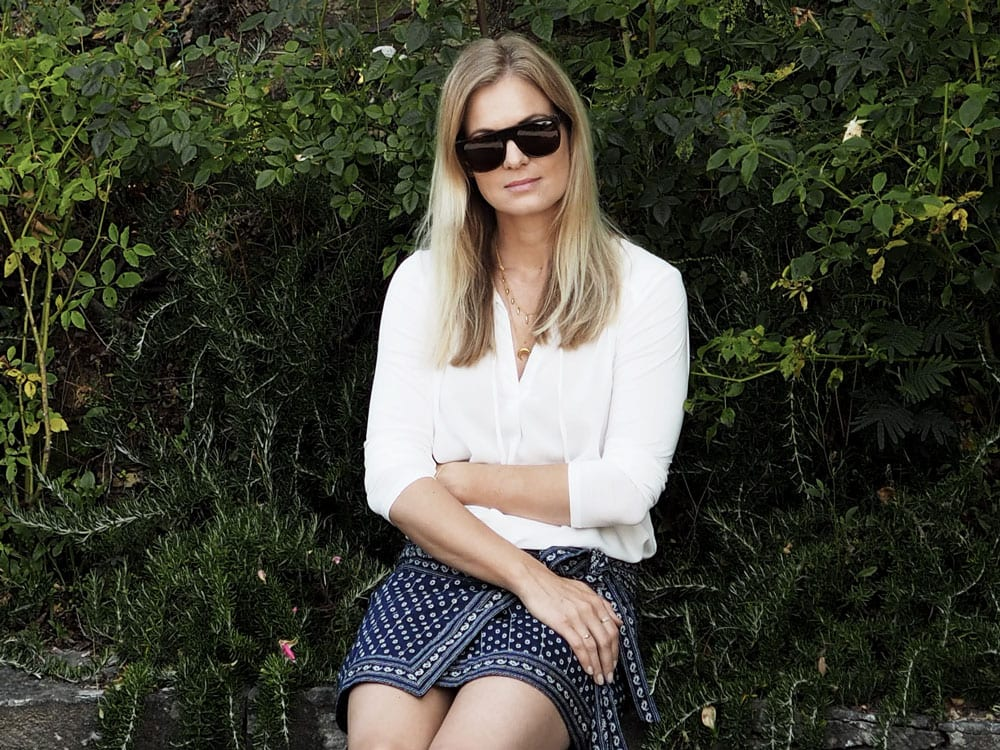 Style&Minimalism | It's Personal + Travel | Lucca | Wearing Splendid White Top, Isabel Marant Wrap Skirt, Retrosuperfuture Flat Top Sunglasses, ATP Atelier Rosa Sandals