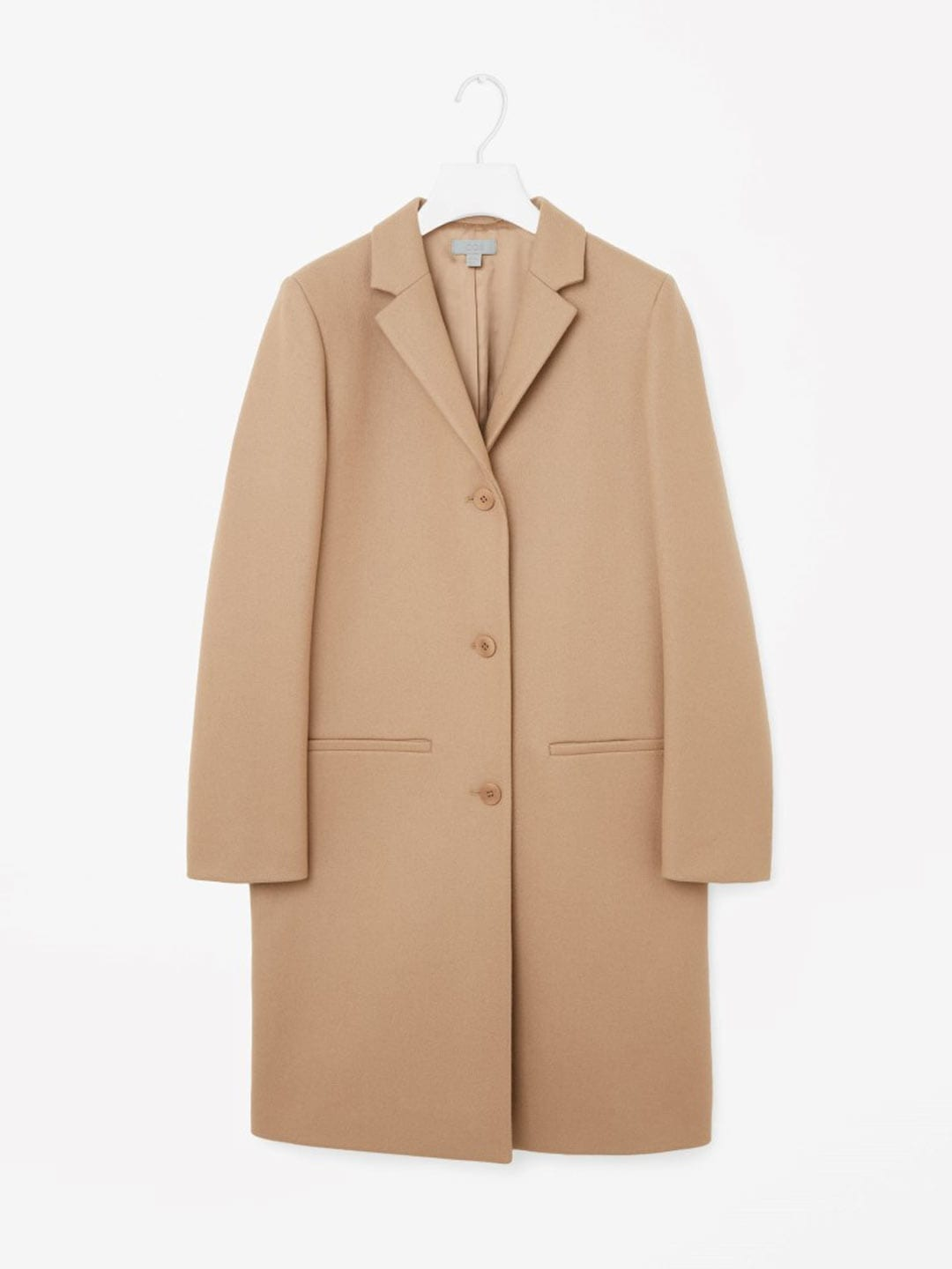 Best Winter Coats | COS Tailored Wool Camel Coat