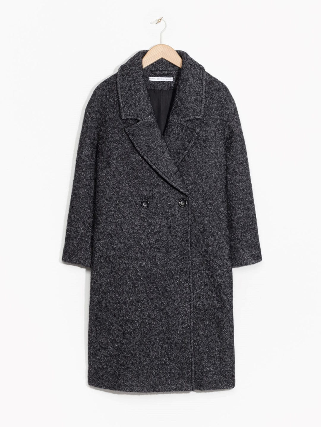 Best Winter Coats | & Other Stories Wool Blend Coat in Dark Grey