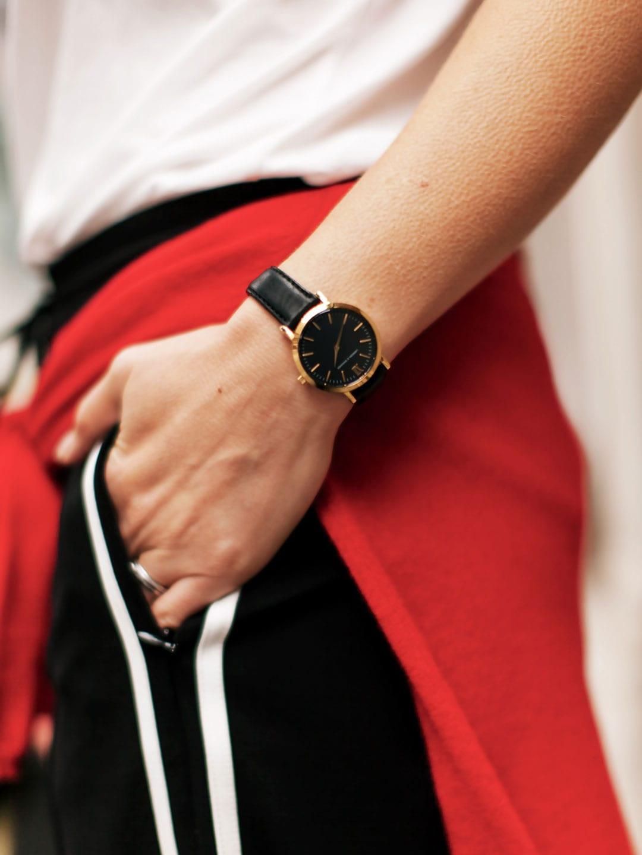 ME+EM Stripe Tailored Track Pant, Maison Scotch Paris T-shirt, Chinti & Parker Good Girl Bad Girl Sweater