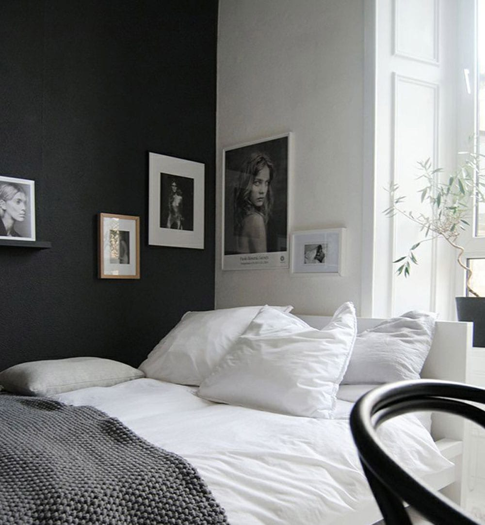 Calming minimalist bedroom inspiration moodboard for Minimalist small bedroom ideas