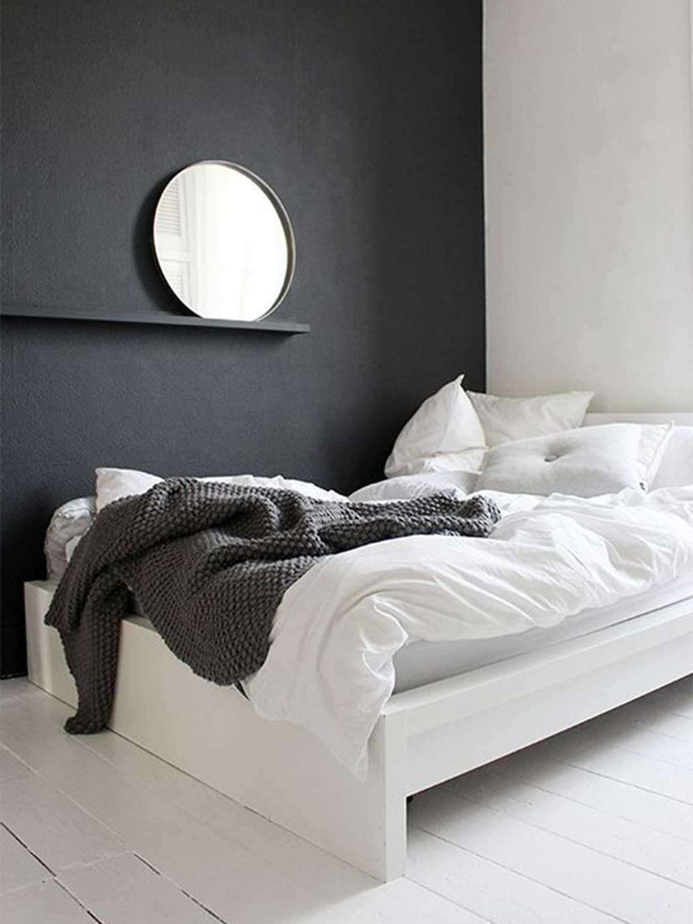 Calming minimalist bedroom moodboard style minimalism for Minimalist black and white bedroom