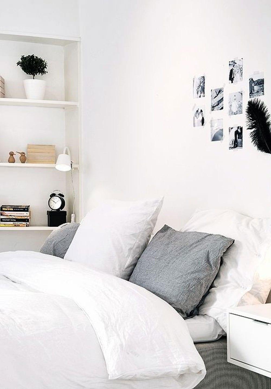 Calming minimalist bedroom moodboard style minimalism for Minimalist bedding