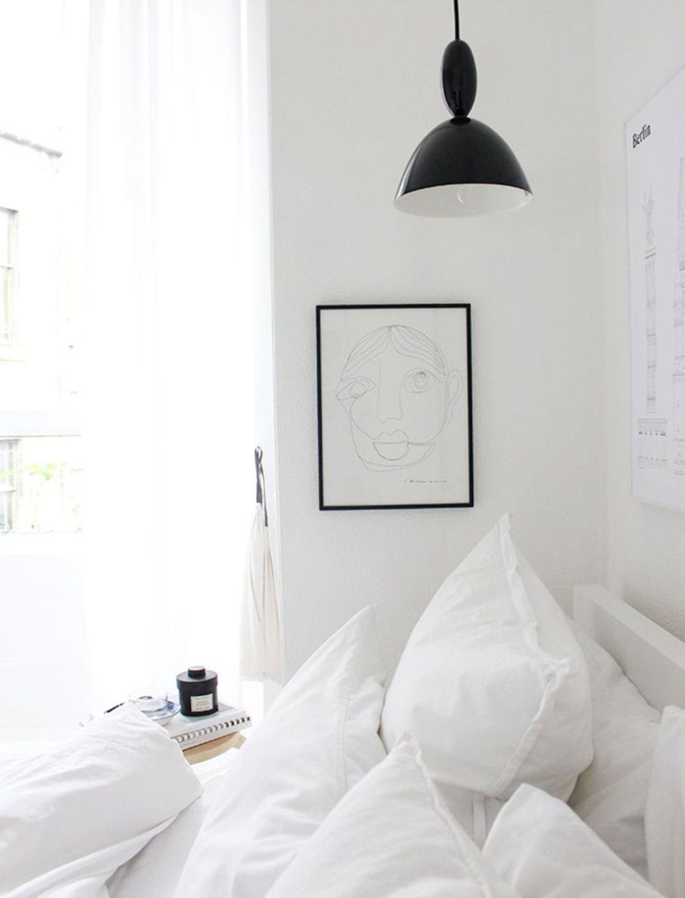 Calming Minimalist Bedroom Moodboard
